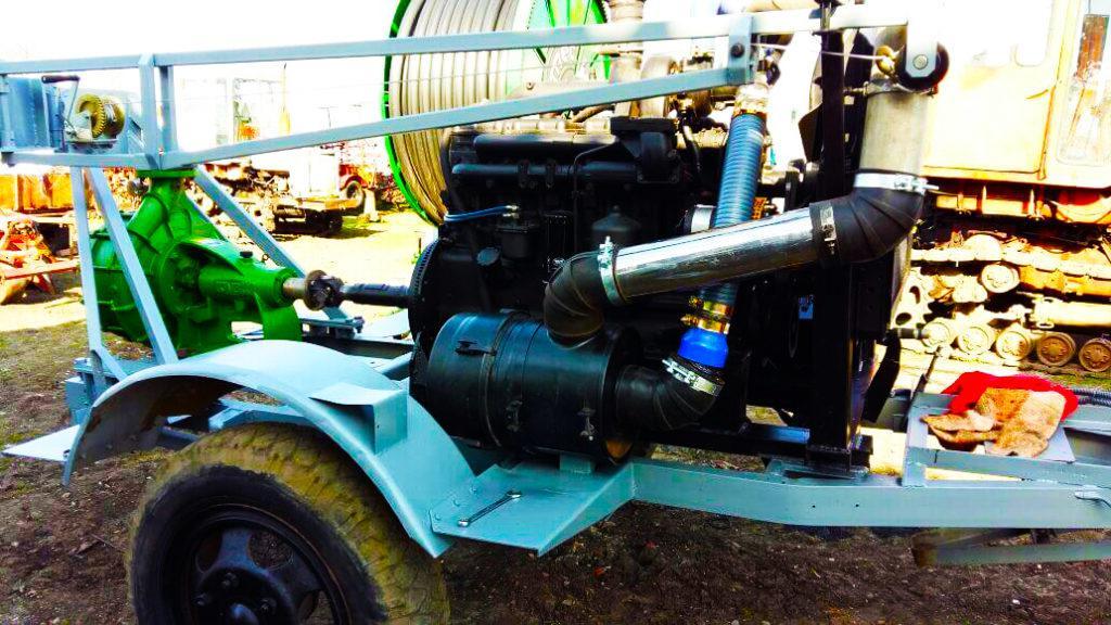 насос для дождевальной машины,привод от дизельного двигателя 2
