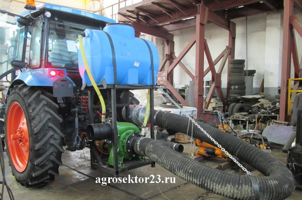 варианты установки насосов от ВОМ трактора