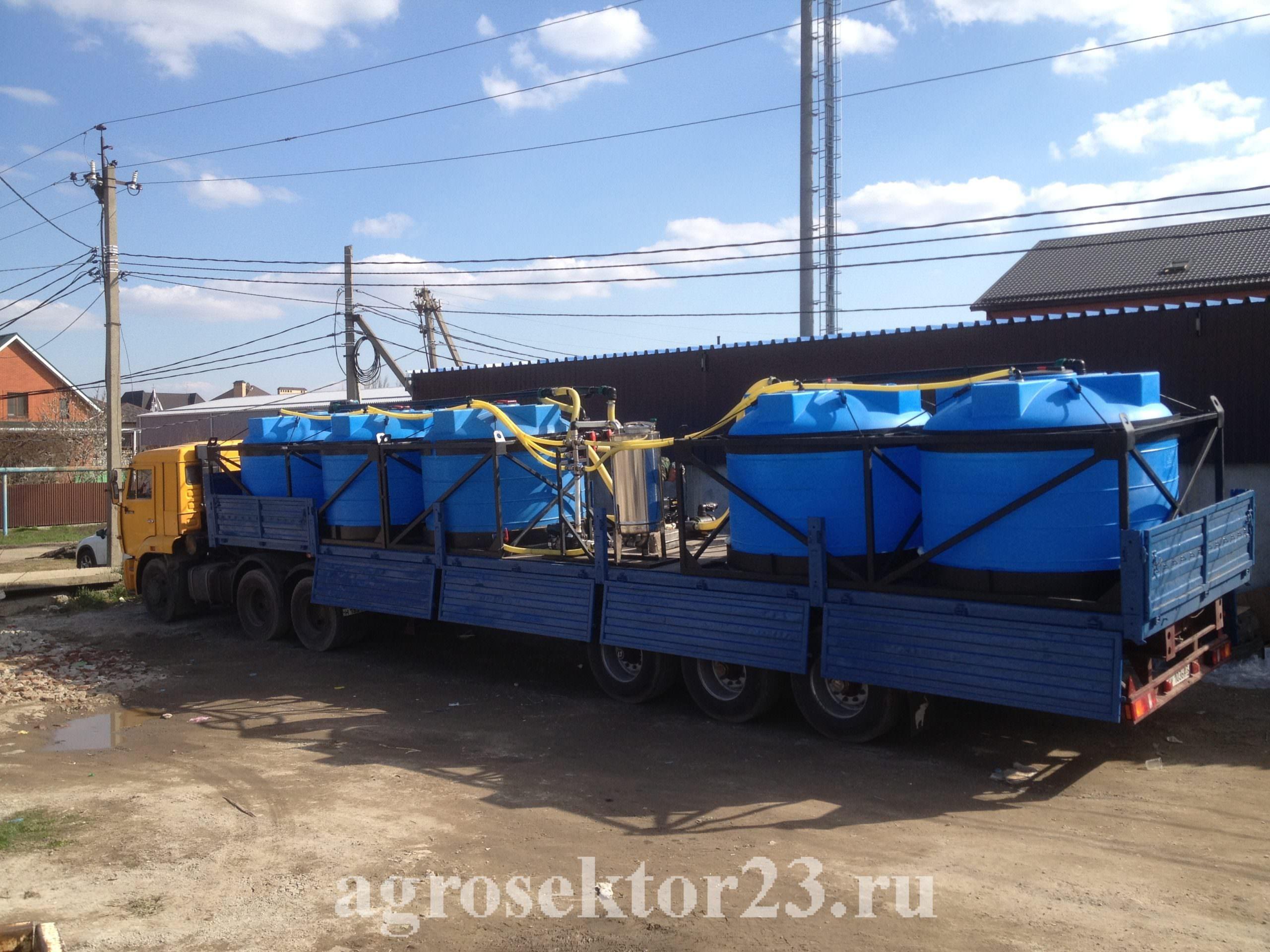 мобильный растворный узел 22.5м3 в кузов КАМАЗА