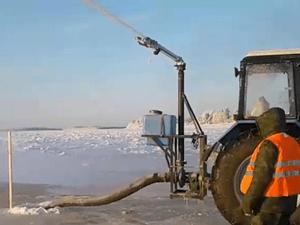 Установки, насосы для намораживания ледовых переправ льдодождеванием