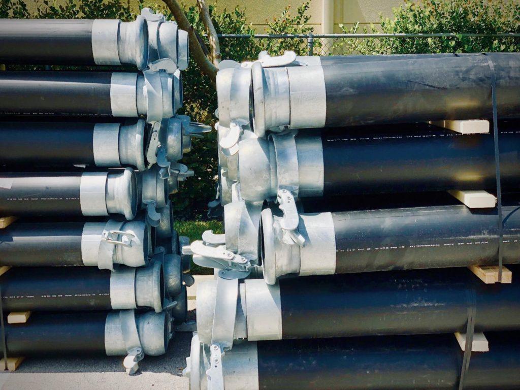 Трубы полиэтиленовые (пэ, пнд, пластиковые) d 110 и 160 мм sdr 17 , марки ПЭ-100, с быстроразъемным соединением БРС, купить
