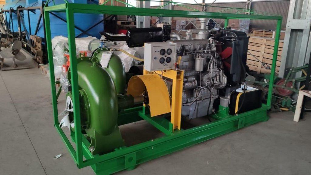 Насос от дизельного двигателя 1020 м3/ч, низкий расход топлива, высокая производительность, непрерывная работа сутками