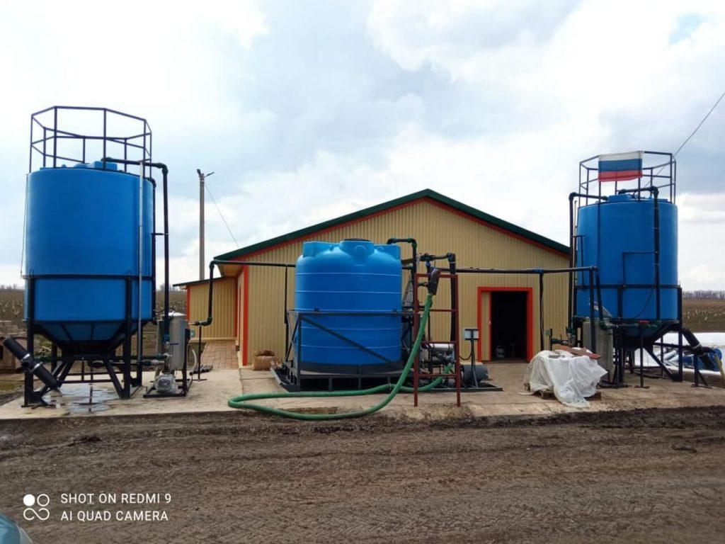 Наши проекты: Три растворных узла для удобрений, для Дельта-Агрос, ст. Староминская, Краснодарский край